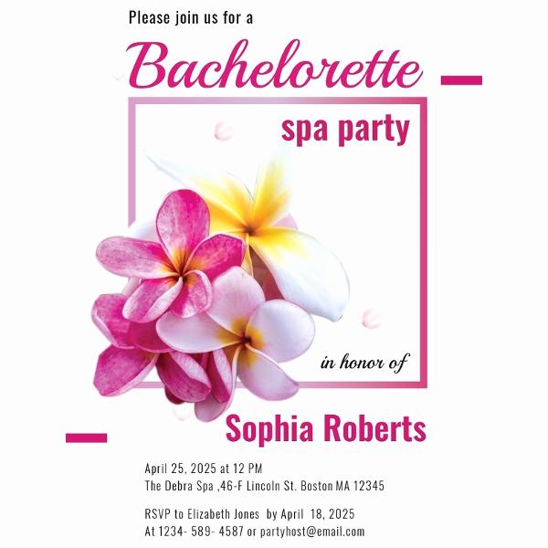 Spa Invitation Template Free Unique 7 Spa Party Invitation Designs & Templates Psd Ai