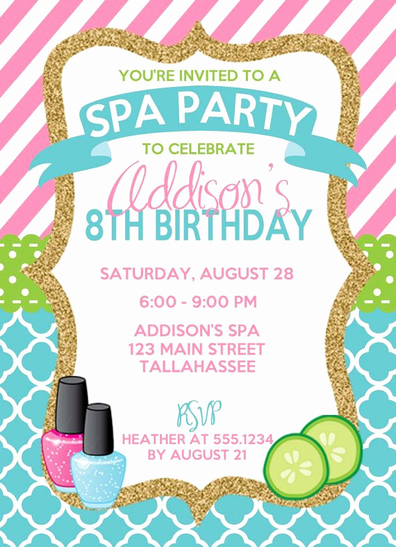 Spa Invitation Template Free Unique Best 20 Kids Spa Party Ideas On Pinterest