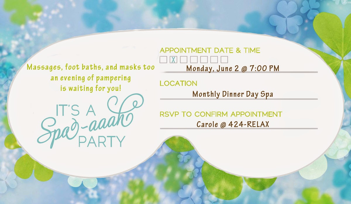 Spa Invitation Template Free Unique Invite and Delight A Spa Aaah Party