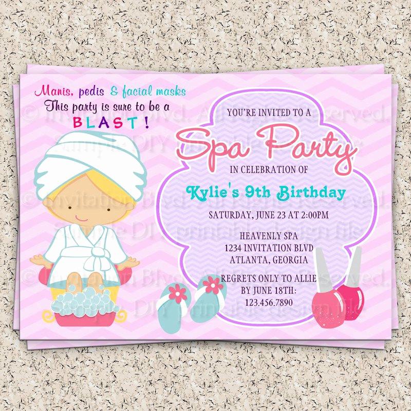 Spa Invitation Template Free Unique Spa Party Clip Art
