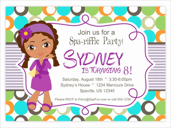 Spa Party Invitation Template Free Inspirational 7 Spa Party Invitation Designs & Templates Psd Ai