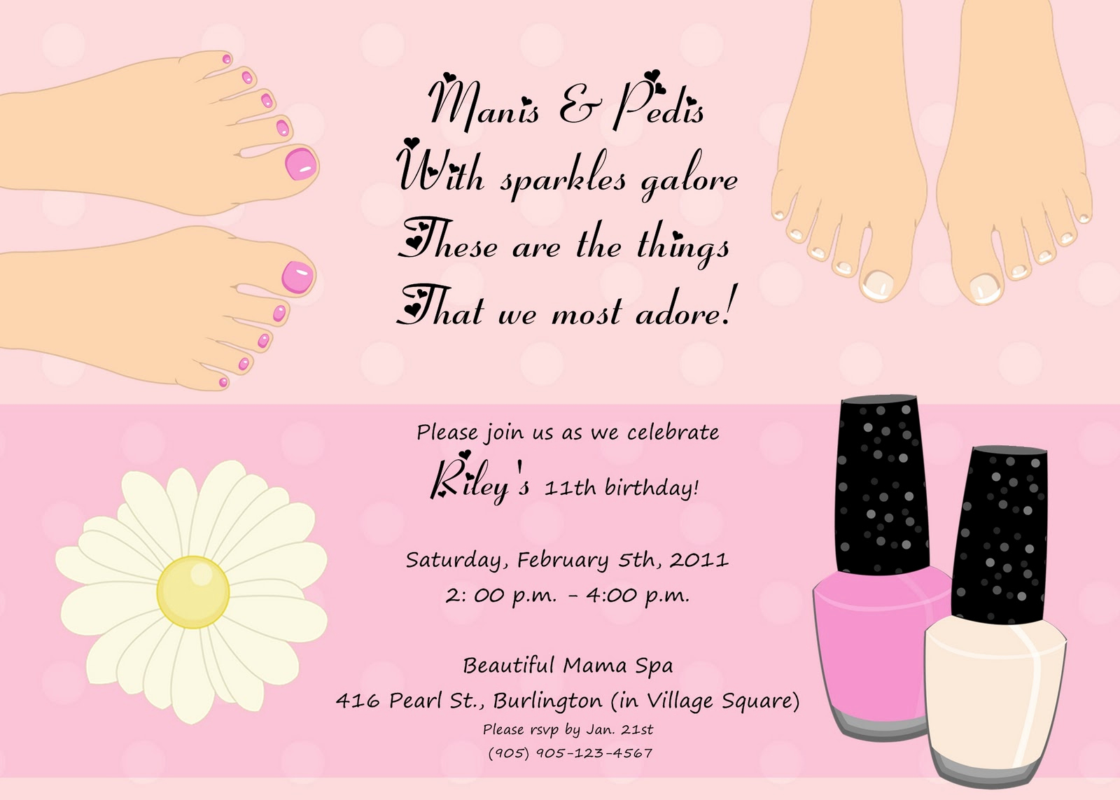 Spa Party Invitation Template Free Luxury 9 Best S Of Nail Template Free Printable Birthday