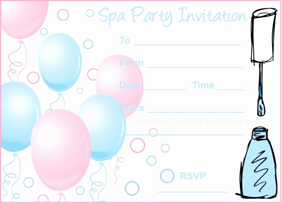 Spa Party Invitation Template Free Luxury Spa Party Invitations