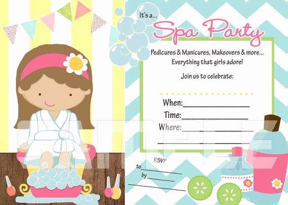 Spa Party Invitation Template Free New Need An Invitation Fast Try This Fill In the Blank Spa