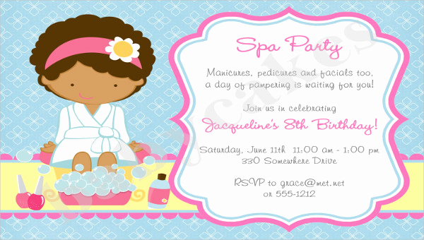 Spa Party Invitation Templates Beautiful 10 Spa Party Invitation Designs & Templates Psd Ai