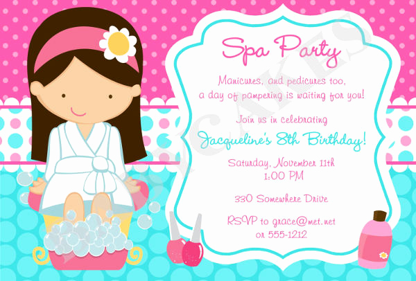Spa Party Invitation Templates Lovely 12 Spa Party Invitations Psd Ai Word