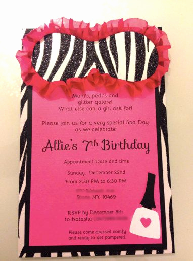 Spa Party Invitation Wording Awesome Best 25 Spa Party Invitations Ideas On Pinterest