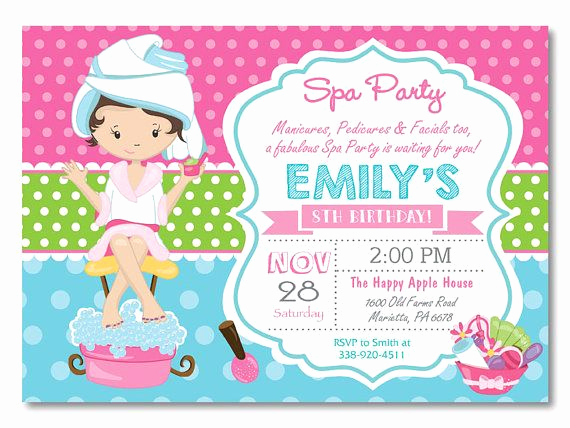 Spa Party Invitation Wording Elegant Best 25 Spa Party Invitations Ideas On Pinterest