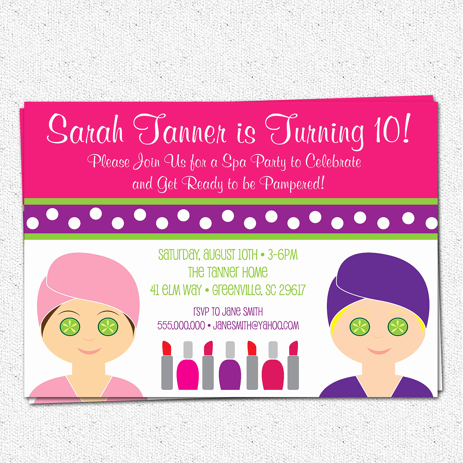 Spa Party Invitation Wording Inspirational Spa Birthday Party Invitation Printable Girl Child Make