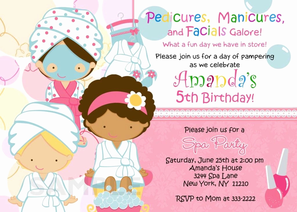 Spa Party Invitation Wording Inspirational Spa Birthday Party Invitations Printables Free