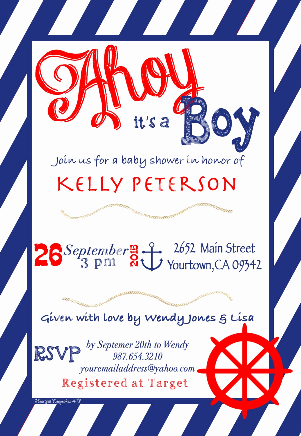 Spanish Baby Shower Invitation Best Of Nautical Boy Baby Shower Invitation English or Spanish