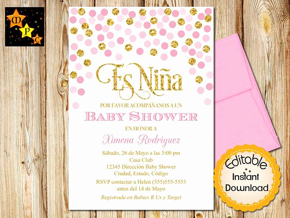 Spanish Baby Shower Invitation Fresh 28 Best Spanish Baby Shower Invitations Images On