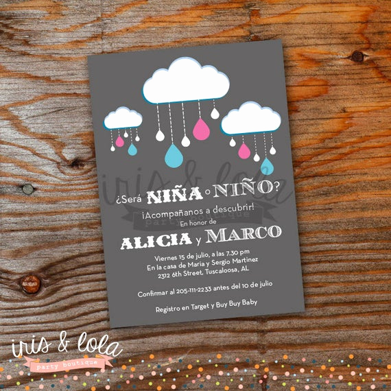 Spanish Baby Shower Invitation Fresh Spanish Gender Reveal Baby Shower Printable Digital Invitation