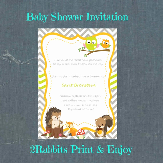 Spanish Baby Shower Invitation Inspirational Woodland Baby Shower Invitation Printable Spanish