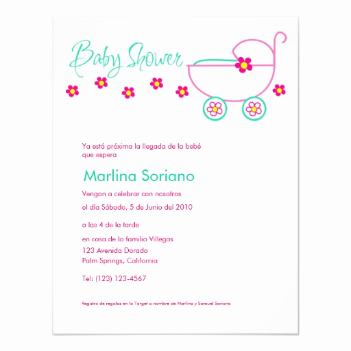 "Spanish Baby Shower Invitation Unique Baby Shower Invitation En Español Spanish 4 25"" X 5 5"