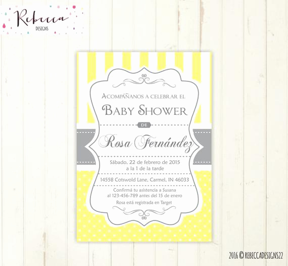 Spanish Baby Shower Invitation Unique Baby Shower Invitation Spanish Boy or Girl Baby Shower