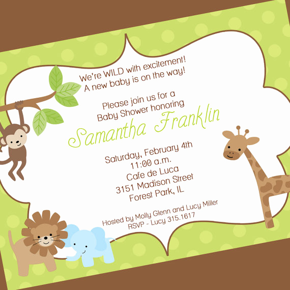 Spanish Baby Shower Invitation Wording Awesome Quotes for Baby Jungle Quotesgram