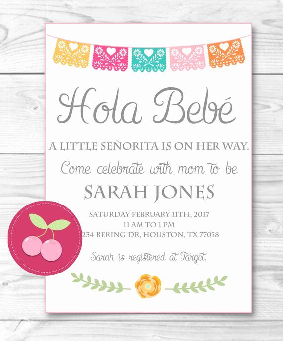 Spanish Baby Shower Invitation Wording Best Of Mexican Baby Shower Bebe Spanish Baby Shower Senorita