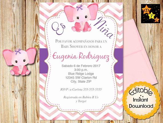 Spanish Baby Shower Invitation Wording Best Of Spanish Baby Shower Invitation Girl Pink Watercolor