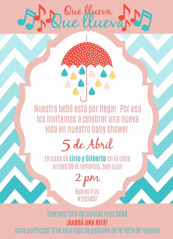 """Spanish Baby Shower Invitation Wording Elegant Baby Girl Shower Invite In Spanish 5 25"""" X 7 25"""