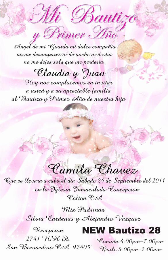Spanish Birthday Invitation Wording Best Of Baptism Invitation In Spanish Invitations