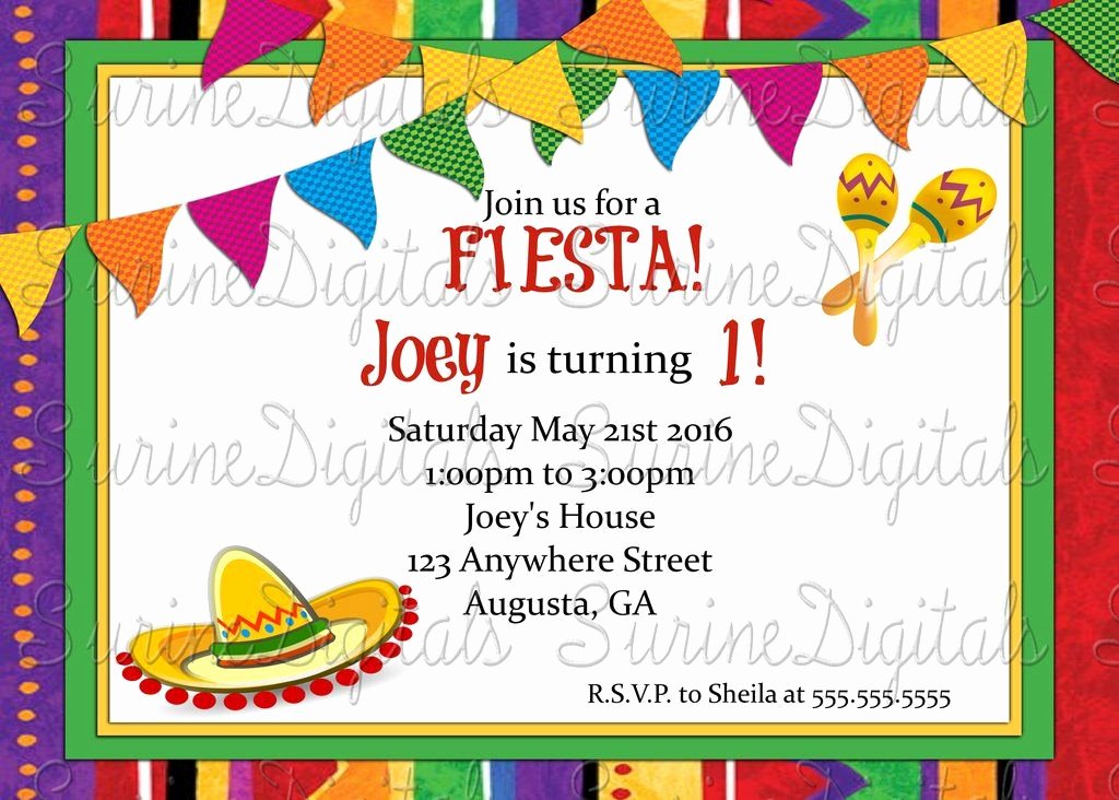 Spanish Birthday Invitation Wording Best Of Let S Have A Fiesta Party Invitation Spanish themed