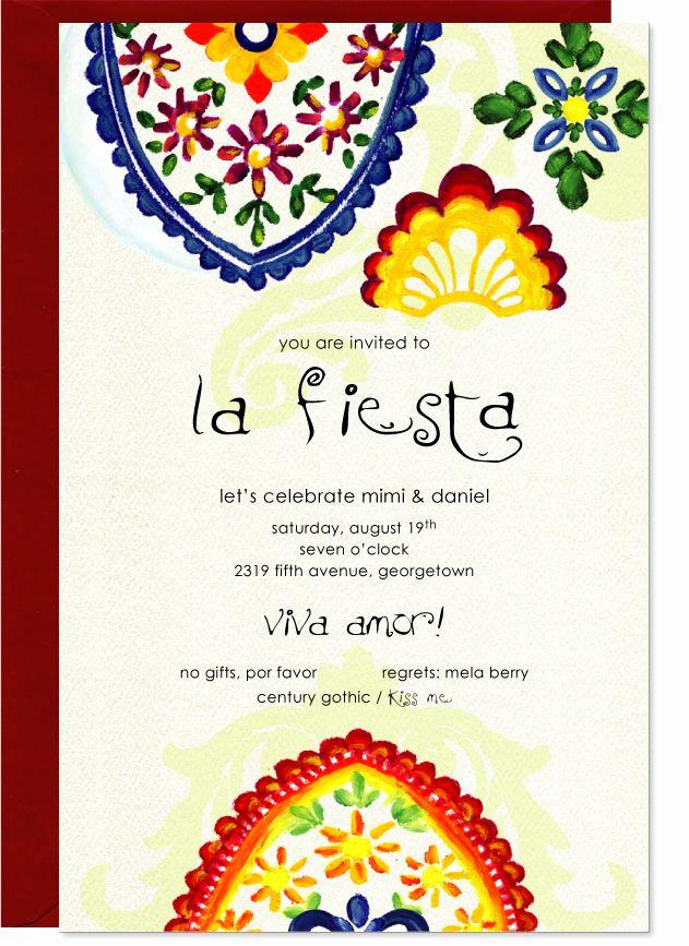 Spanish Birthday Invitation Wording Unique Fancy Fiesta Invitation Red Envelopes