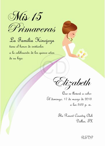 Spanish Quinceanera Invitation Wording Best Of Diy Princess Sweet 16 Quinceanera Invitation English