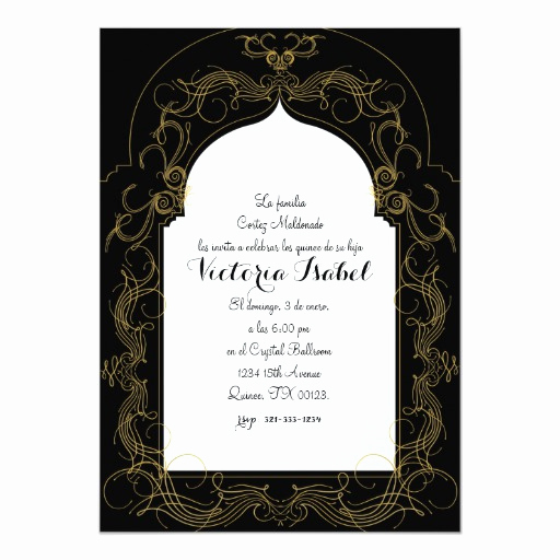 Spanish Quinceanera Invitation Wording Lovely Spanish Quince Moroccan Quince Invitation