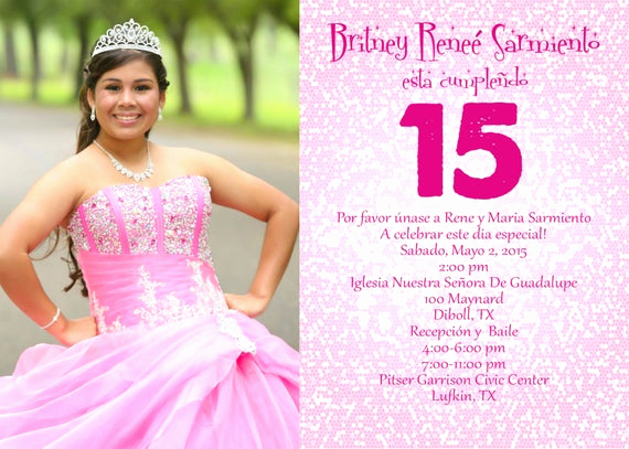 Spanish Quinceanera Invitation Wording New Spanish Quinceanera Invitation