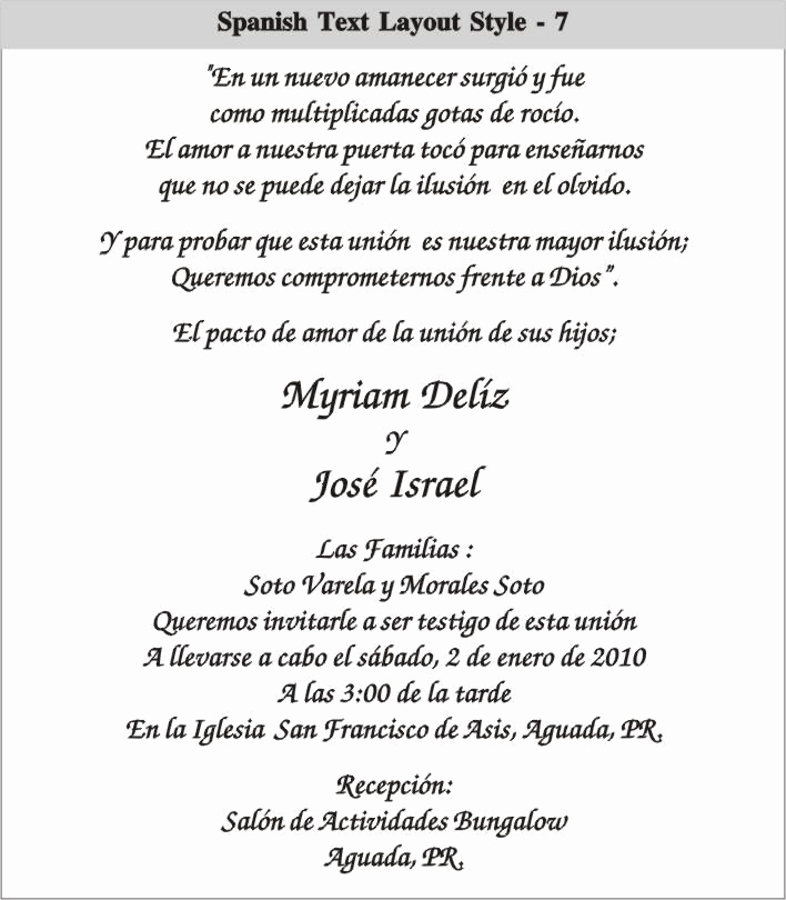 Spanish Wedding Invitation Wording Lovely Cinderella Wedding Invitations In Spanish