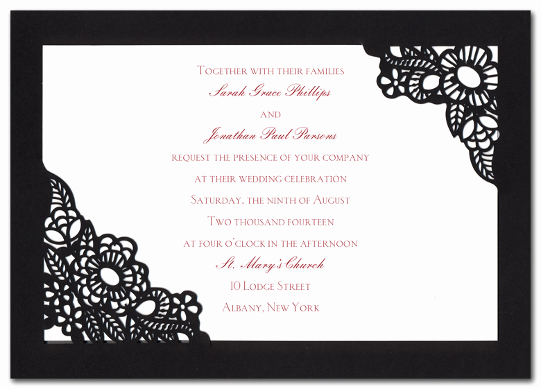 Spanish Wedding Invitation Wording Unique Spanish Lace Wedding Invitations by Invitation