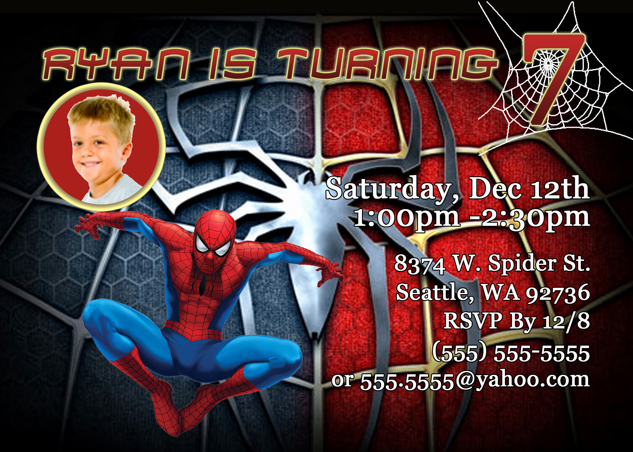 Spiderman Birthday Invitation Maker Awesome Kids Birthday Party Invitations Wording