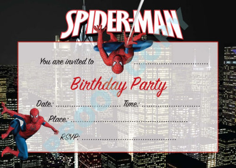 Spiderman Birthday Invitation Maker Beautiful Impress Your Guests with these Spiderman Birthday Invitations