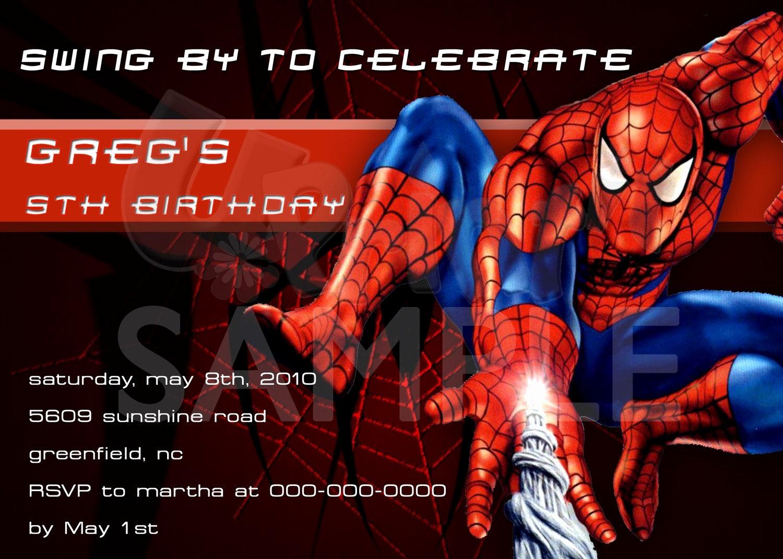 Spiderman Birthday Invitation Maker Beautiful Spiderman Personalized Birthday Invitations U by