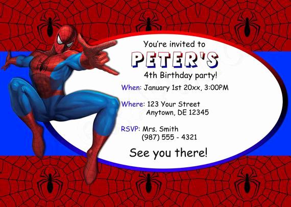 Spiderman Birthday Invitation Maker Best Of Spiderman Birthday Invitation Printable