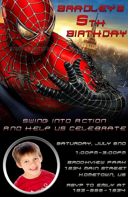 Spiderman Birthday Invitation Maker Elegant Free Printable Spider Man Birthday Invitations