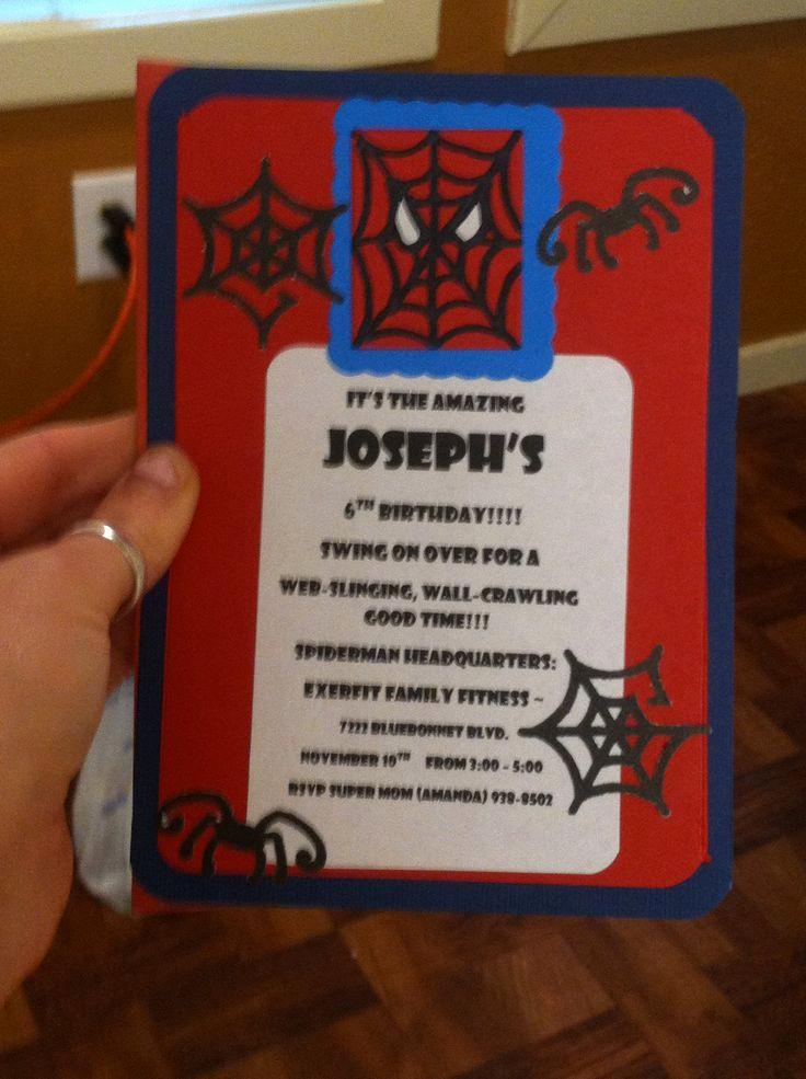 Spiderman Birthday Invitation Maker Elegant Spider Man Birthday Invitation