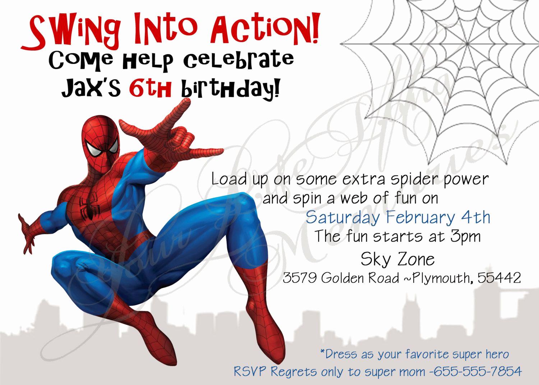 Spiderman Birthday Invitation Maker Elegant Spiderman Birthday Invitations Free Printable