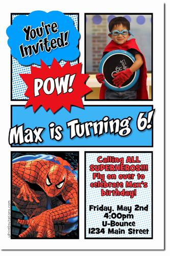 Spiderman Birthday Invitation Maker Elegant Spiderman Birthday Invitations Super Hero Birthday