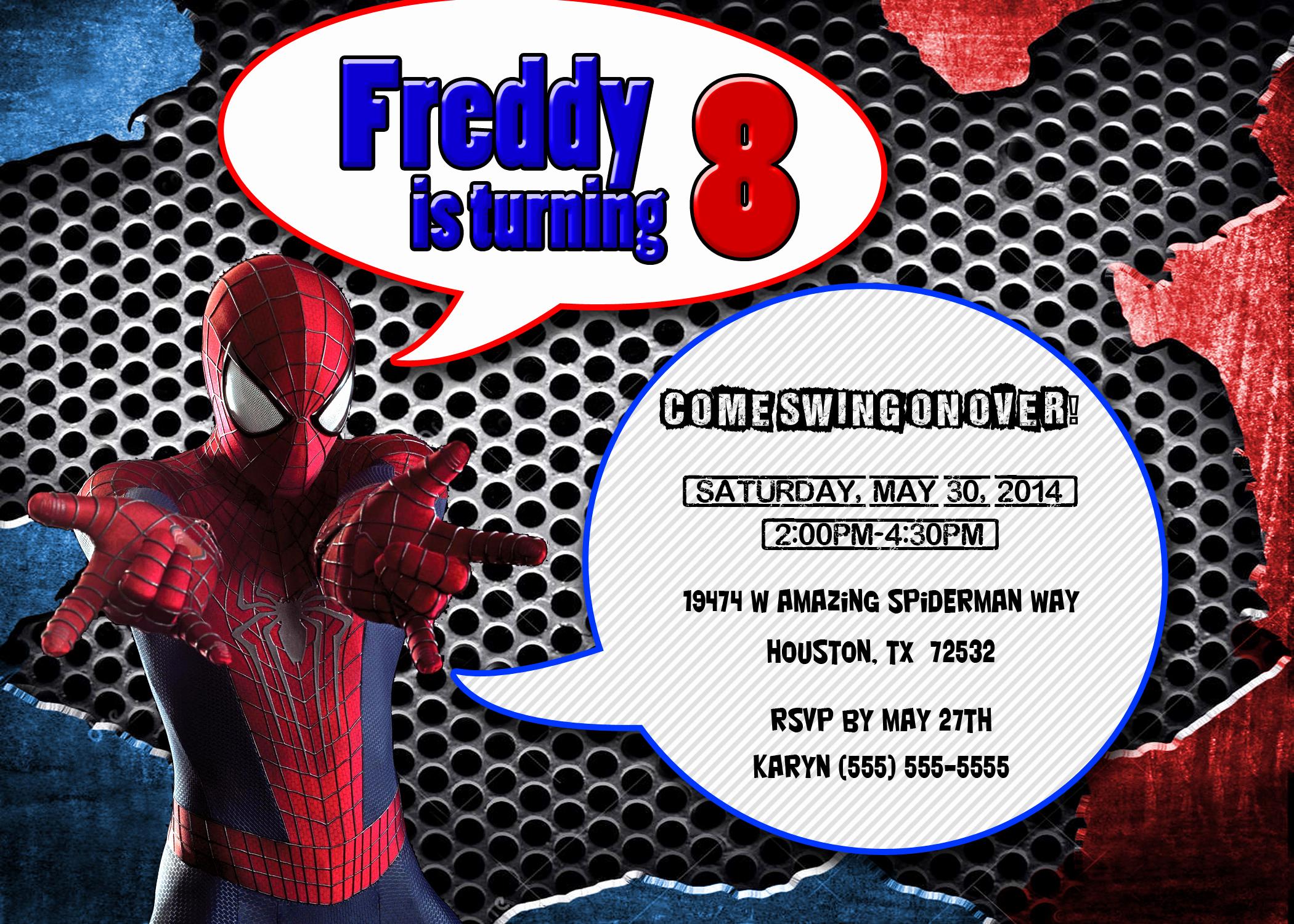 Spiderman Birthday Invitation Maker Fresh Spiderman Birthday Invitations