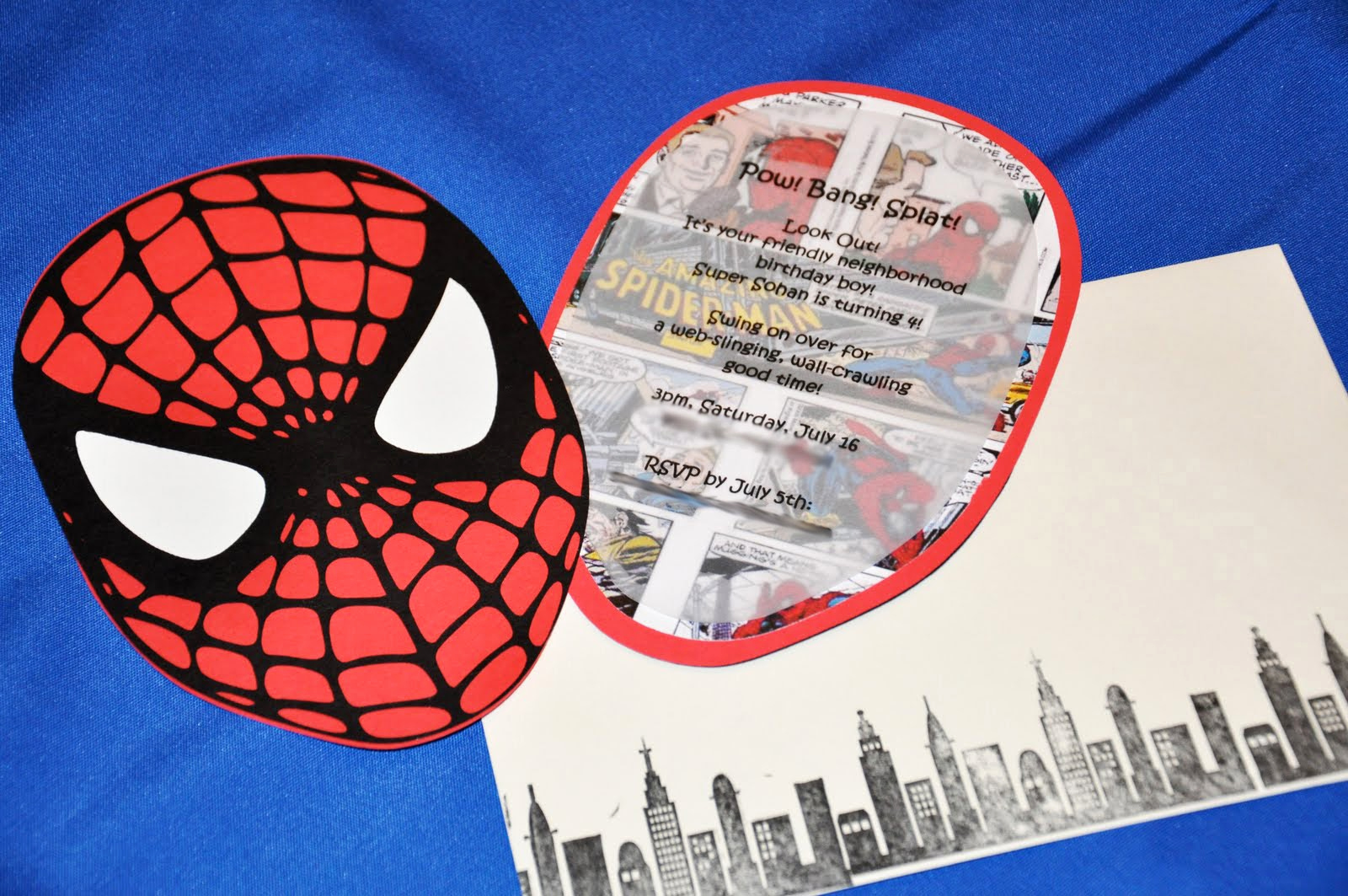 Spiderman Birthday Invitation Maker Fresh the Party Wall Sneak Peek Spiderman Party Invitations