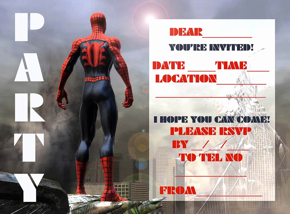 spiderman birthday invitation maker free