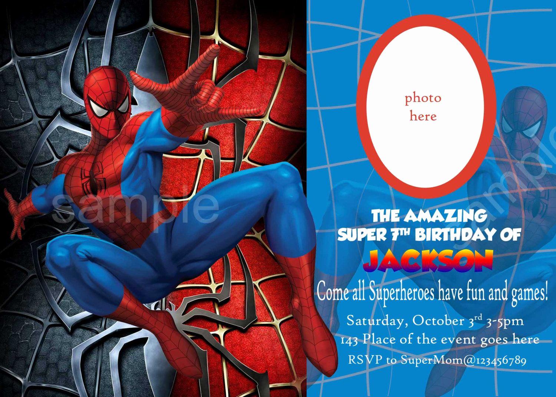 Spiderman Birthday Invitation Maker Luxury Blank Spiderman Invitations – Invitetown