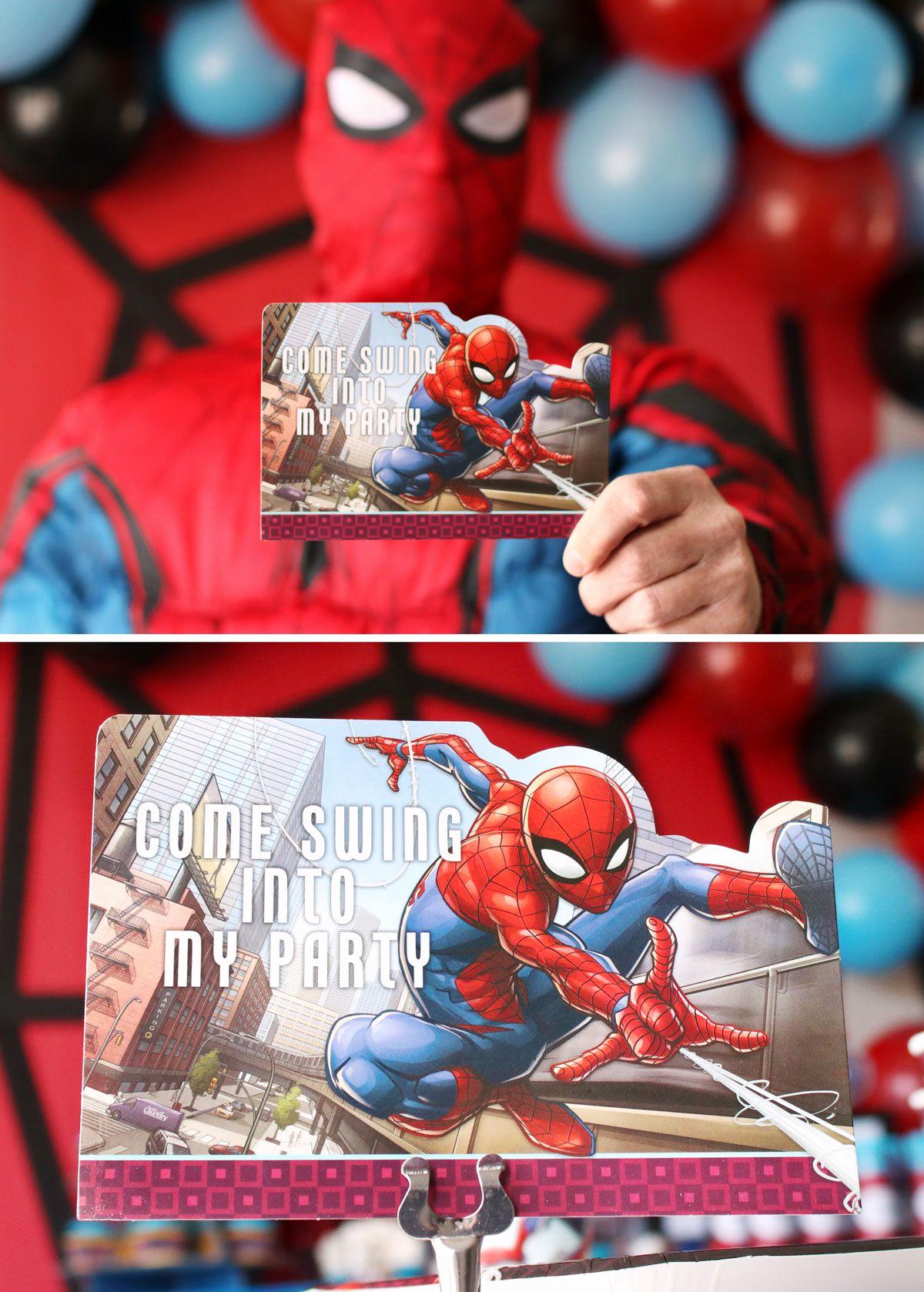 Spiderman Birthday Invitation Maker Luxury Spider Man Party Ideas