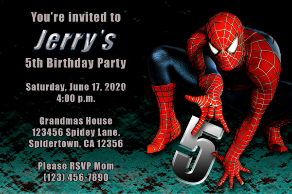 Spiderman Birthday Invitation Maker Luxury Spiderman Invitations Birthday Party Invites