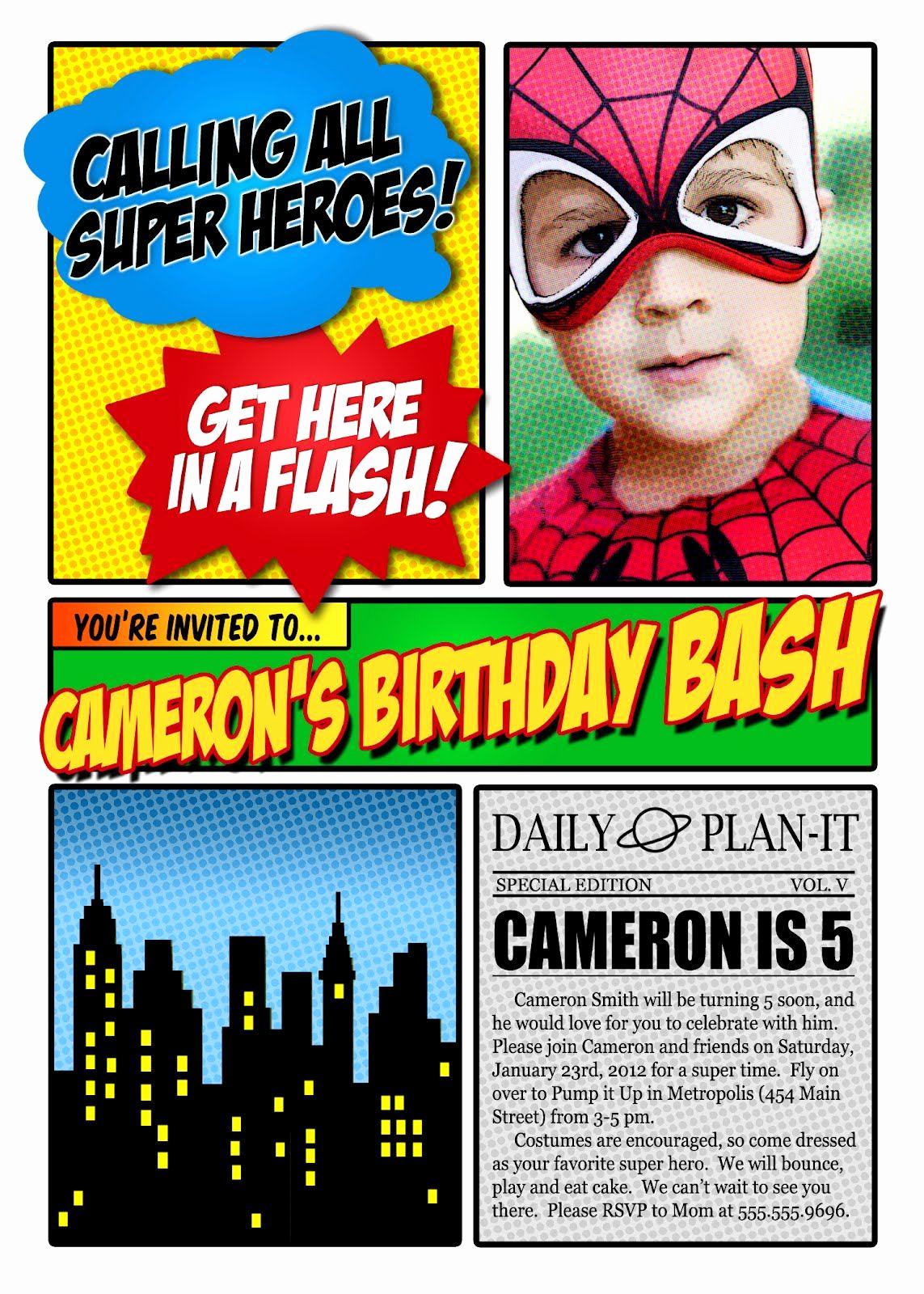 Spiderman Birthday Invitation Maker Unique Free Superhero Invitation Maker Invitation
