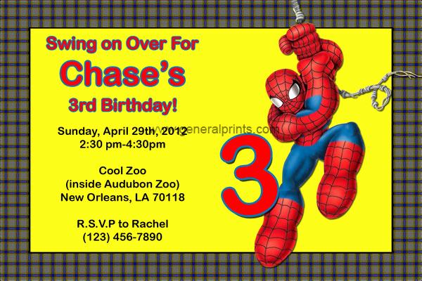 Spiderman Birthday Invitation Maker Unique Spiderman Invitations Birthday Party Invites