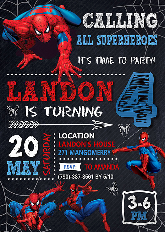 Spiderman Birthday Invitation Template Awesome 21 Spiderman Birthday Party Ideas Pretty My Party