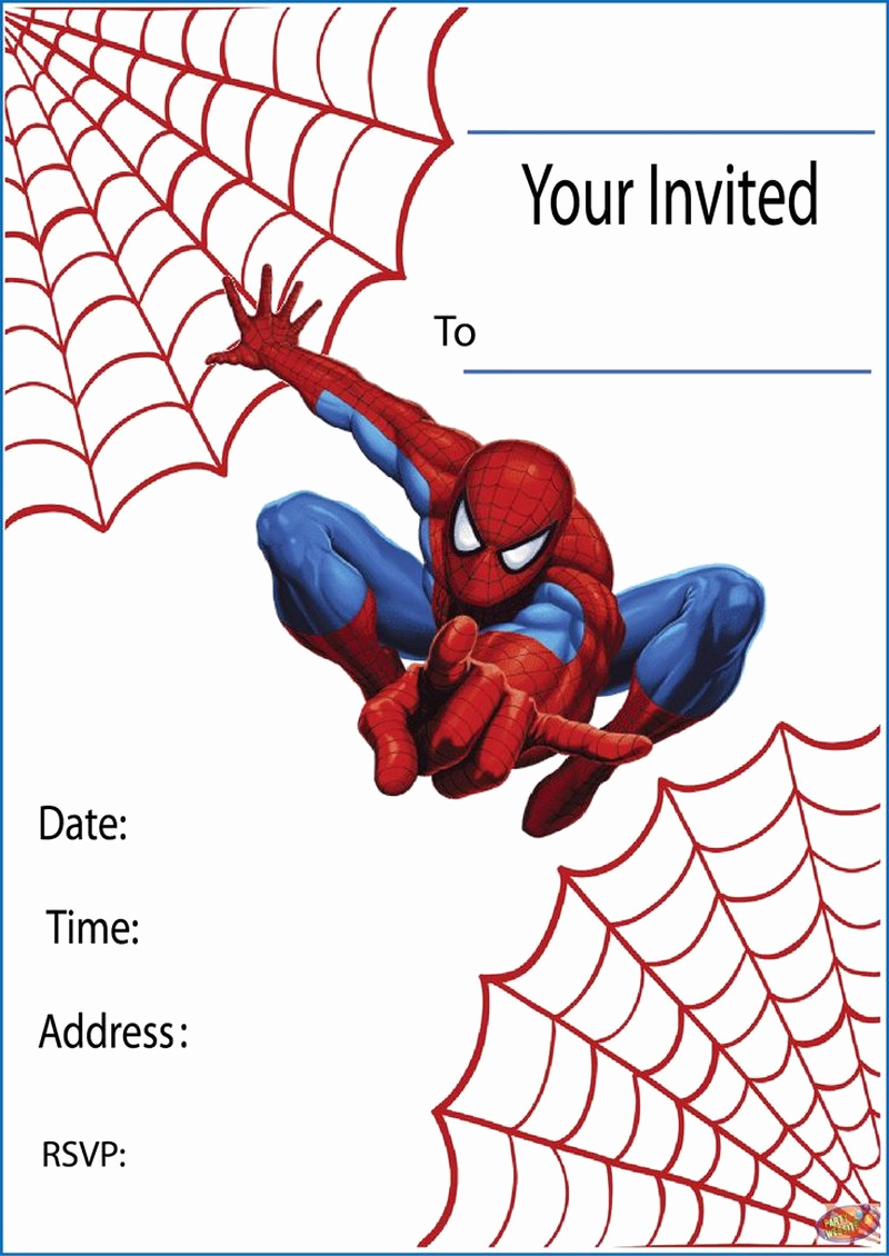 Spiderman Birthday Invitation Template Awesome Impress Your Guests with these Spiderman Birthday Invitations